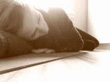 Why do we roll onto the right after savasana?